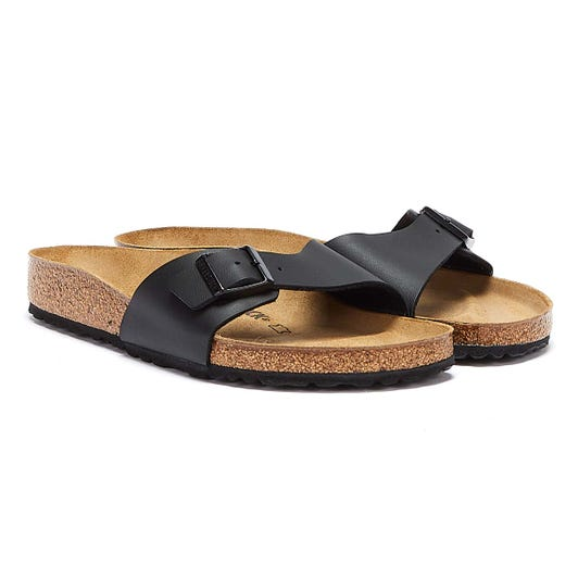 Birkenstock Madrid Birko Flor Womens Black Sandals