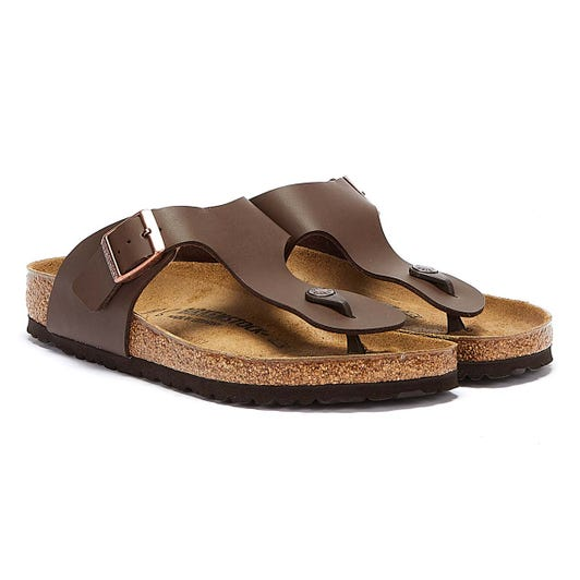 Birkenstock Ramses Birko-Flor Mens Brown Leather Sandals