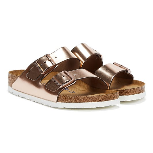 Birkenstock Arizona Womens Metallic Copper Sandals