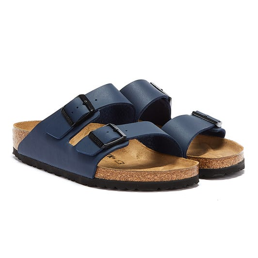 Birkenstock Arizona Birko Flor Navy Sandals