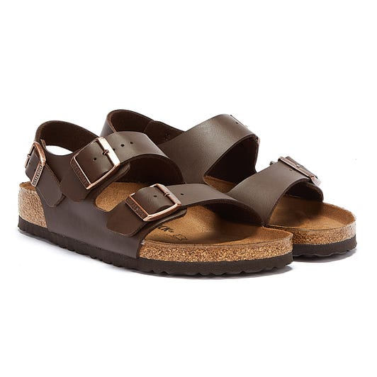 Birkenstock Milano Birko Flor Dark Brown Sandals