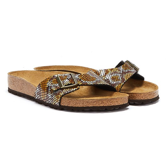 Birkenstock Madrid Birko Flor Python Womens Brown Sandals