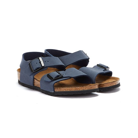 Birkenstock New York Birko-Flor Kids Navy Sandals