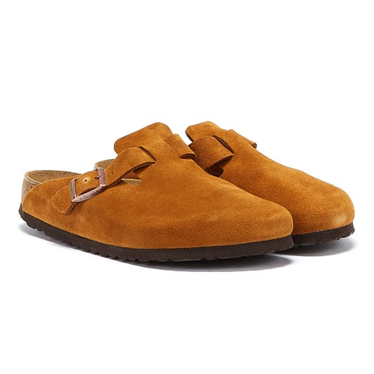 Birkenstock Boston Soft Footbed Brown Shoes