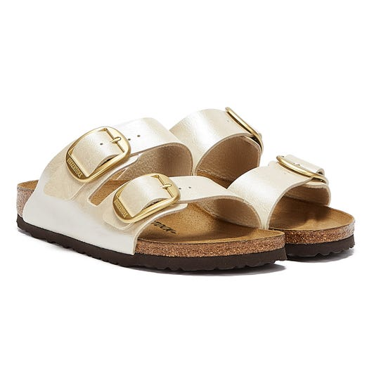 Birkenstock Arizona Big Buckle Birko Flor Womens Graceful Pearl Sandals