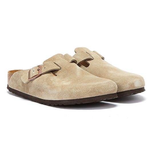 Birkenstock Boston Soft Footbed Taupe Shoes