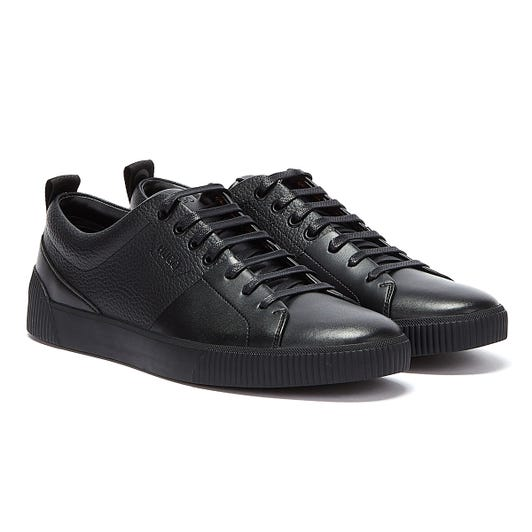 HUGO Zero Tenn Mens Black Trainers