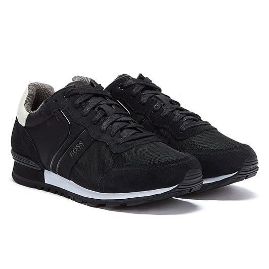 BOSS Parkour Runn Mens Black / White Trainers