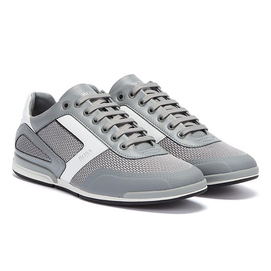 BOSS Saturn Hybrid Low Mens Grey Trainers