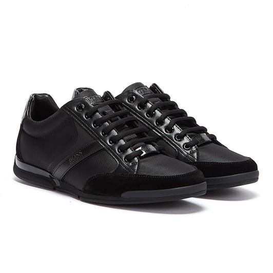 Hugo Boss Saturn Mix Low Mens Black Trainers