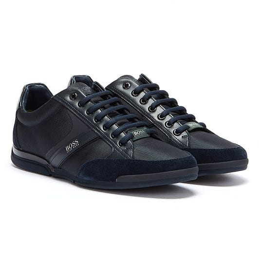 Hugo Boss Saturn Mix Low Mens Dark Blue Trainers