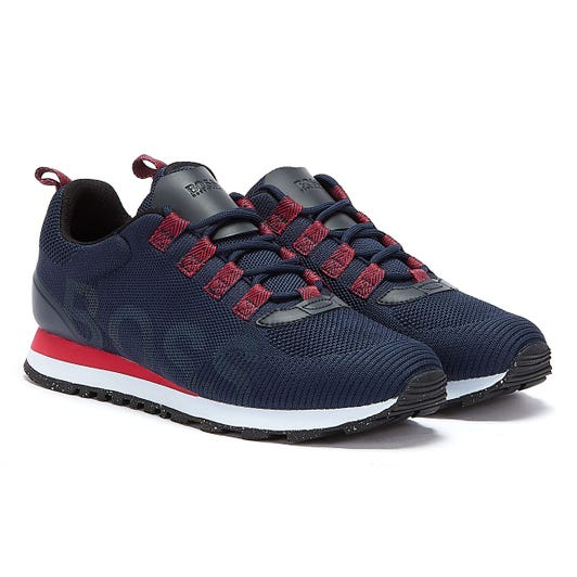 BOSS Parkour Runn Res Mens Navy / Red Trainers