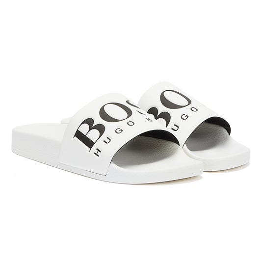 BOSS Solar Mens White / Black Slides