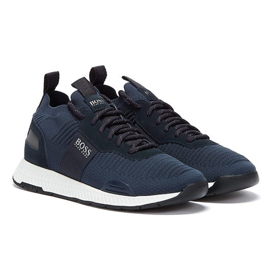BOSS Titanium Runn Mens Navy Trainers