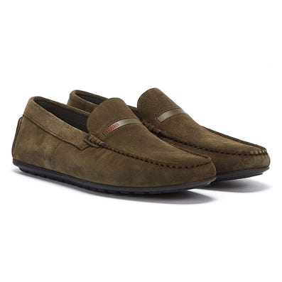 HUGO Dandy Moccassin Mens Khaki Shoes
