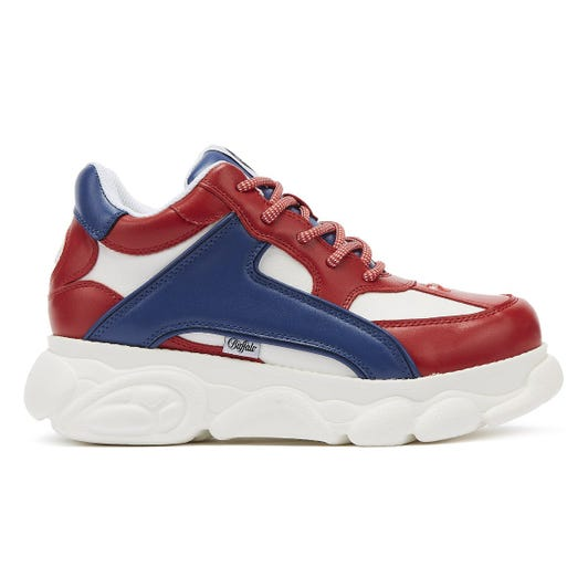 Buffalo Colby Womens Red / Blue / White Trainers