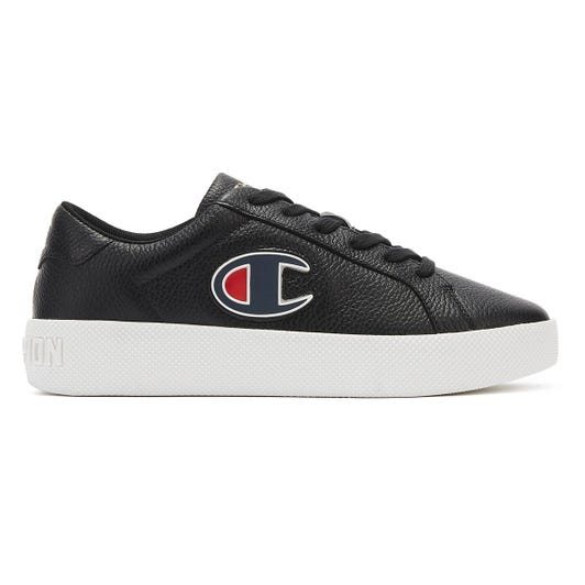 Champion Era Low Womens Black / White Leather Trainers