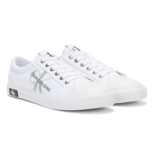 Calvin Klein Jeans Vulcanised Polyester Mens White Trainers