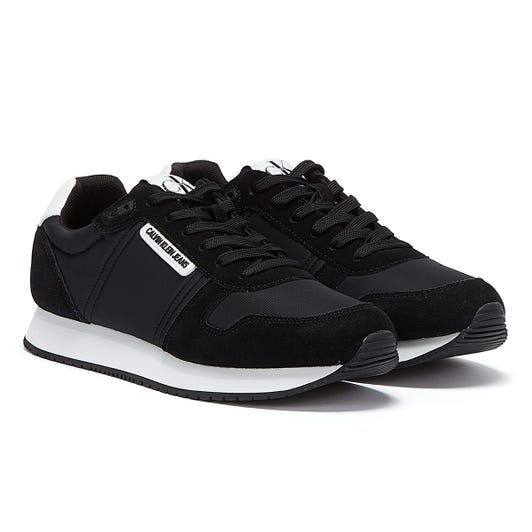 Calvin Klein Jeans Runner Lace Up Suede Womens Black Trainers