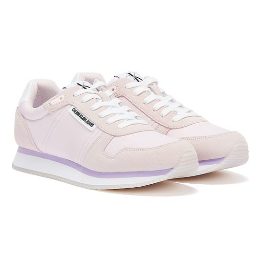 Calvin Klein Jeans Runner Lace Up Suede Womens Light Pink Trainers