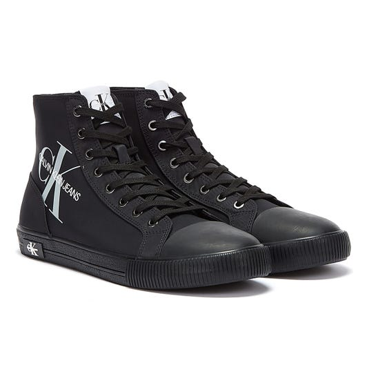 Calvin Klein Jeans Vulcanised High Polyester Mens Black Trainers