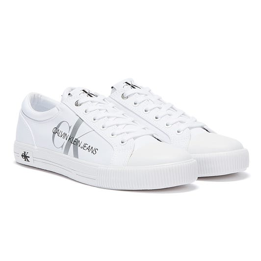 Calvin Klein Jeans Vulcanised Polyester Womens White Trainers