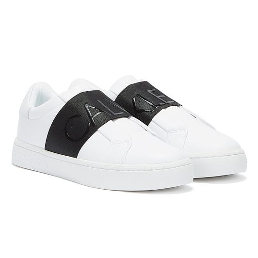 Calvin Klein Jeans Cupsole Elasticated Womens White Trainers