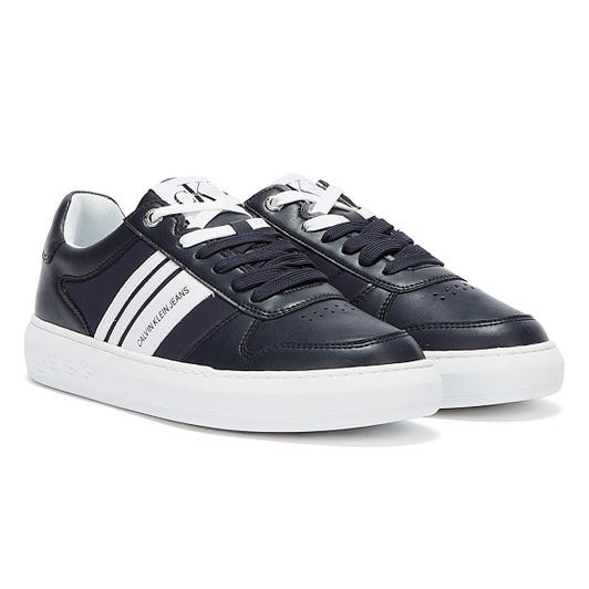 Calvin Klein Jeans Cupsole Stripes Mens Navy / White Trainers