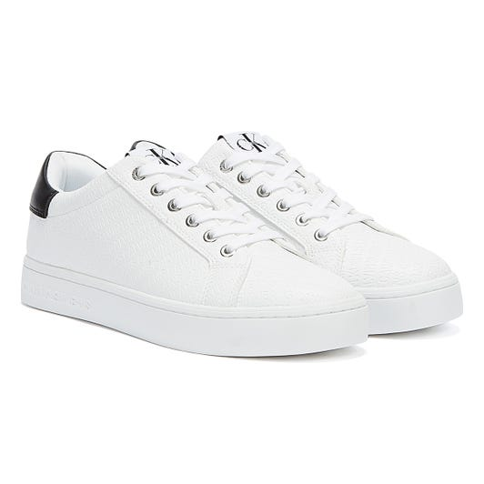 Calvin Klein Jeans Logo Cupsole Womens White Trainers