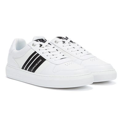 Calvin Klein Jeans Cupsole Stripes Mens White Trainers