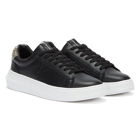 Calvin Klein Jeans Chunky Cupsole Lace Up Sneaker Womens Black Trainers
