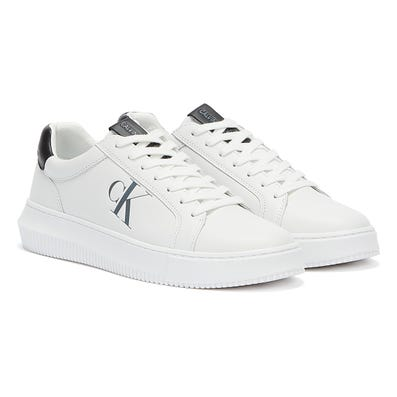 Calvin Klein Jeans Chunky Cupsole Lace Up Mens White Trainers