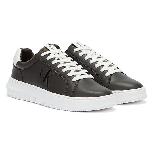 Calvin Klein Jeans Chunky Cupsole Lace Up Mens Black Olive Trainers