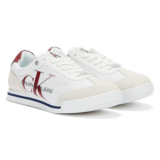 Calvin Klein Jeans Low Profile Lace Up Pes Mens White Trainers