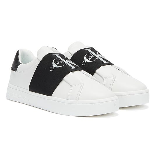 Calvin Klein Jeans Cupsole Elastic Womens White Trainers