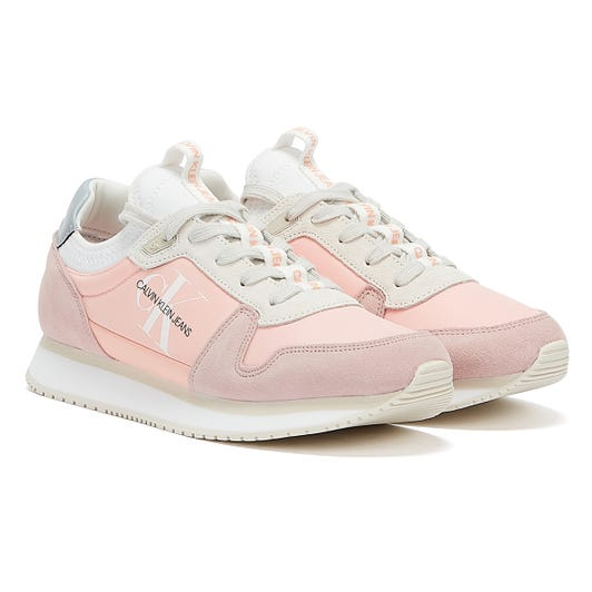 Calvin Klein Jeans Runner Lace Up Sock Womens Blossom Trainers
