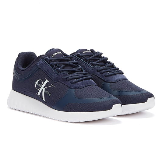 Calvin Klein Jeans Runner Lace Up Sneakers Eva Mens Navy Trainers