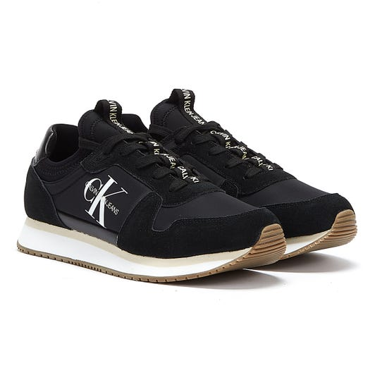 Calvin Klein Jeans Runner Lace Up Sock Womens Black Trainers