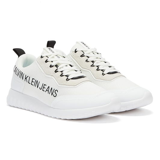 Calvin Klein Jeans Runner Lace Up Eva Inst Mens White Trainers