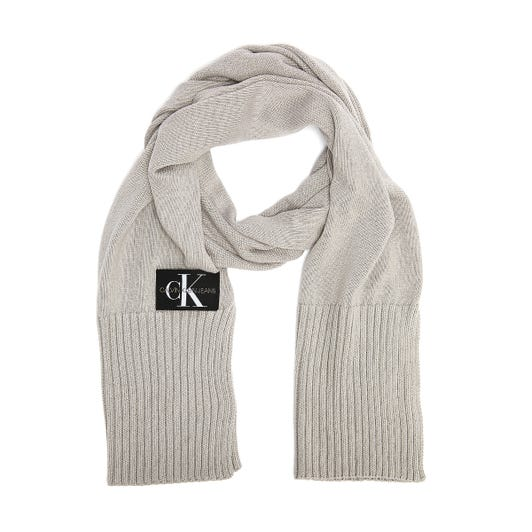 Calvin Klein Jeans Knitted Basic Mens Grey Scarf