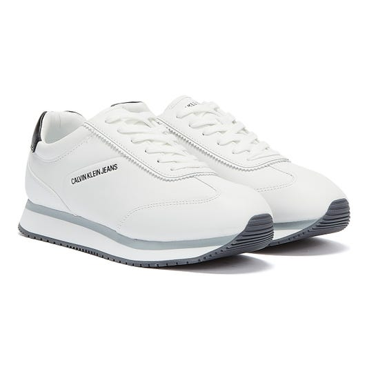 Calvin Klein Jeans Runner Lace Up LTH Mens White Trainers