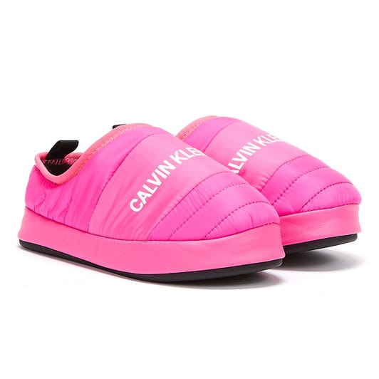 Calvin Klein Jeans Home Shoe Womens Pink Glo Slippers