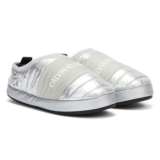 Calvin Klein Jeans Home Shoe Womens Silver Slippers
