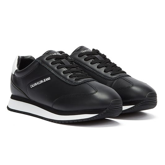 Calvin Klein Jeans Runner Lace Up LTH Mens Black Trainers