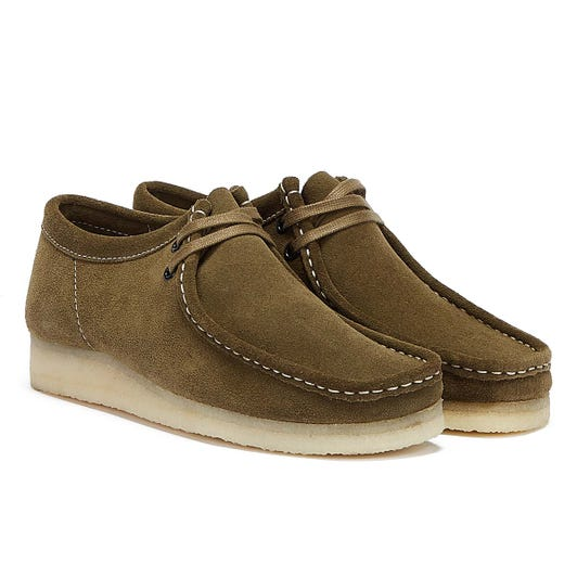 Clarks Wallabee Mens Khaki Shoes