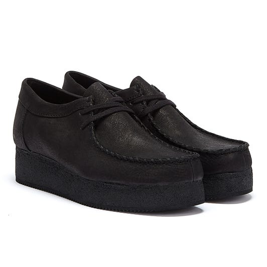 Clarks Wallacraft Lo Nubuck Womens Black Shoes