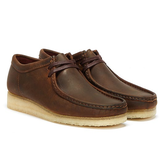 Clarks Wallabee Leather Mens Brown Shoes