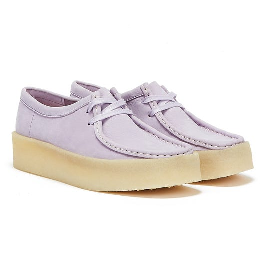 Clarks Wallabee Cup Nubuck Womens Lilac Shoes