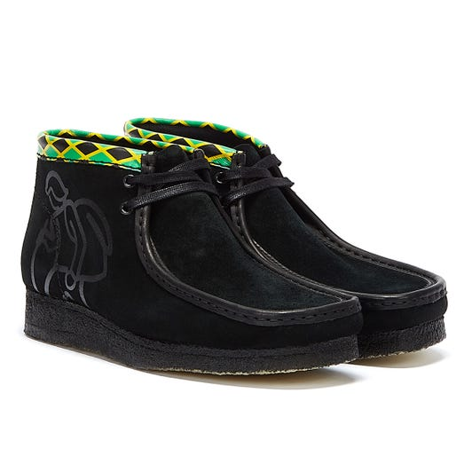 Clarks x Jamaica Wallabee Mens Black / Multi Boots