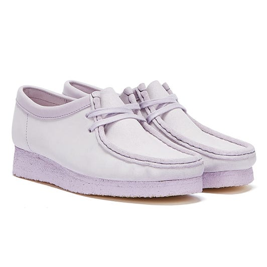 Clarks Wallabee Suede Womens Lilac Shoes
